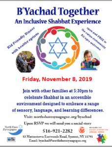 B'Yachad Together An Inclusive Shabbat Experience